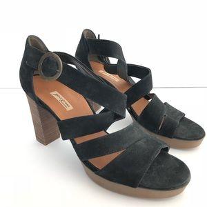 Paul Green Black Riviera Strappy Sandals